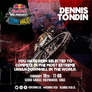 Dennis Tondin Chile Red Bull Valparaiso Cerro Abajo